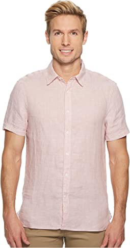 Short Sleeve Solid Linen Shirt