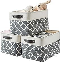 DECOMOMO Foldable Storage Bin   Collapsible Sturdy Cationic Fabric Storage Basket Cube W/Handles for Organizing Shelf Nurs...