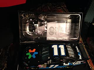 Top of the Line Action RCCA Elite Diecast Denny Hamlin #11 Raced Win Version Car 23 July 2006 Long Pond PA Pocono Fedex Kinkos 1/24 Scale Hood Trunk Open Motorsports Authentics (AKA Action Racing) Only 299 Produced Rookie Year 2nd Win Yellow Rookie Stripes Individually Serialized Only 299 Made