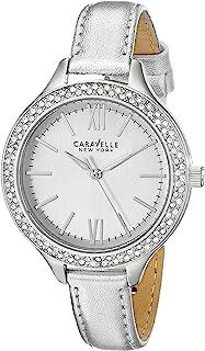 Caravelle New York Women's 43L167 Analog-Display Japanese-Quartz Silver-Tone Watch