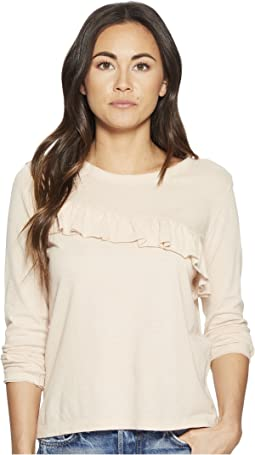 Lucky Brand Asymmetrical Ruffle Top