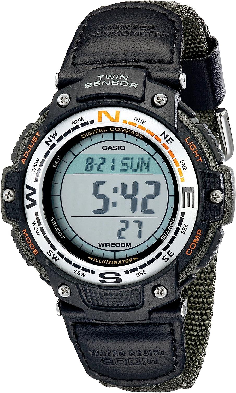 Casio Men's SGW100B3V Digital Compass TwinSensor Sport Watch