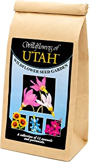 Utah Wildflower Seed Mix - A Beautiful Collection of Twelve annuals and perennials - Enjoy The Natural Beauty of Flowers in Your own Home Garden
