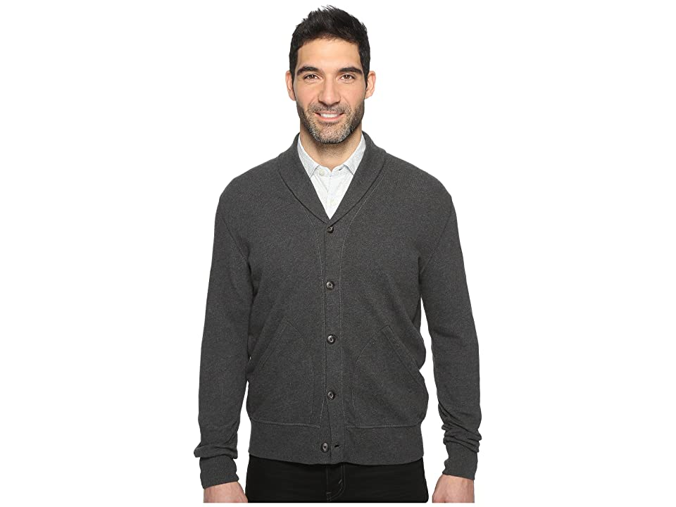 Dockers Premium Shawl Cardigan (Charcoal Heather) Men