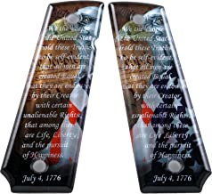 Custom 1911 Full Size A2 Diamond Polish Ergonomic SPD Acrylic Grips We The People Colt Taurus Sig Kimber