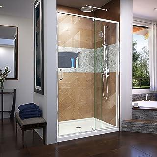 DreamLine Flex Semi-Frameless Pivot Shower Door in Chrome, 38-42 in Width x 72 in Height, 1/4 in. (6mm) Certified Clear Te...