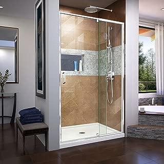 DreamLine Flex 44-48 in. W x 72 in. H Semi-Frameless Pivot Shower Door in Chrome, SHDR-22487200-01