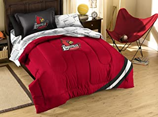The Northwest Company NCAA Louisville Cardinals Twin Bed in a Bag with Applique Comforter