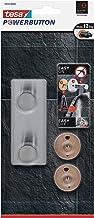 tesa Powerbutton Classic Hakenlijst - Dubbele zelfklevende haakjes - Handdoekhaken, ophanghaakjes - Draagkracht plakhaken ...