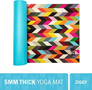 "WITHit French Bull Yoga Mat, 72"" x 24"" – 5 mm Thick Yoga Mat, Easy to Clean, Lightweight and Durable, Non-Slip Yoga Mat, Latex Free, for Indoor and Outdoor Use"