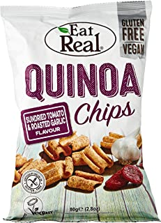 Eat Real Quinoa Chips, Sundried Tomato & Roasted Garlic, 80 gm