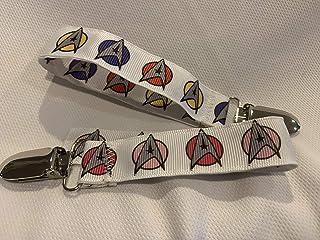 Star Trek Pacifier Clip, Star Trek Ribbon, Trekkie Baby, Baby Gifts, Custom Baby Gift