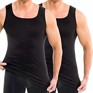 Muscle Shirt Made of 100/% Organic Cotton HERMKO 3000-4 Mens Tank top Made in EU Many Colours