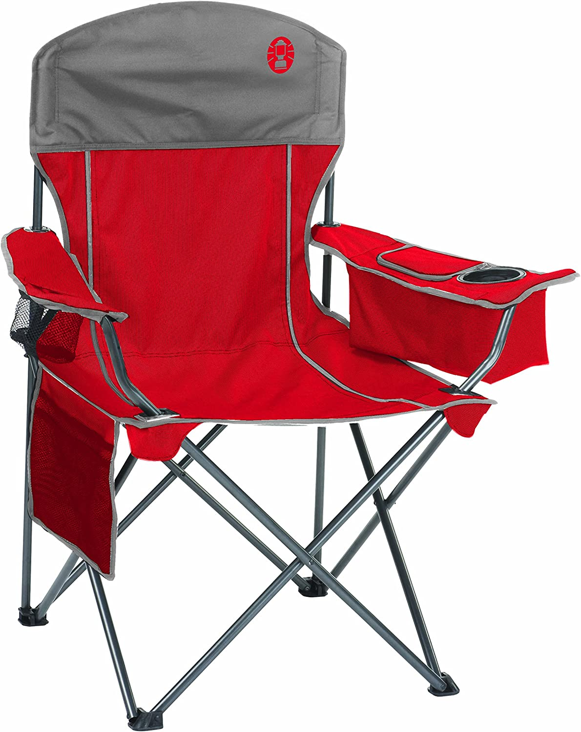 Coleman Oversized Quad Chair with Cooler, Holds up to 300Pound