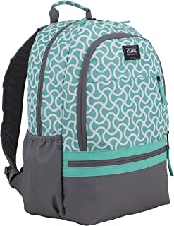 Ultimate Girls Concept Backpack, Turquoise/Ash Gray/Squiggle Textile Print