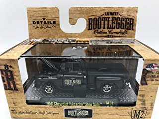 M2 Machines Bootlegger 1958 Chevrolet Apache Step Side 1:64 Scale BL02 16-25 Black Details Like NO Other! Over 42 Parts 1 of 9800