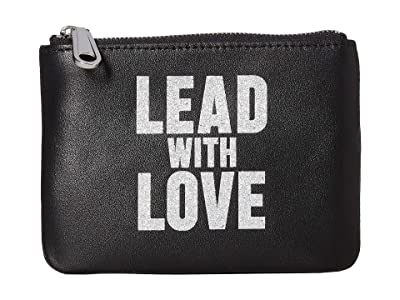 Rebecca Minkoff Betty Pouch Lead w/ Love (Black/Silver) Travel Pouch