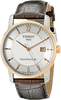 Tissot Men's T0874075603700 T-Classic Analog Display Swiss Automatic Brown Watch