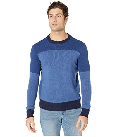 J.Crew Merino Nylon Color Block Crew (Color Block Night Sky) Men
