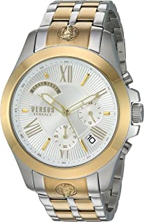 Versus by Versace Men's Chrono Lion Extension Quartz Watch with Two-Tone-Stainless-Steel Strap, 172 (Model: VSPBH1418