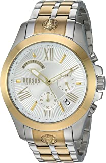 Versus by Versace Men's Chrono Lion Extension Quartz Watch with Two-Tone-Stainless-Steel Strap, 172 (Model: VSPBH1418)