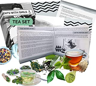 10 different types of tea in a gift box for tea lovers, tea sample set with teas from all over the world. Gift idea for te...