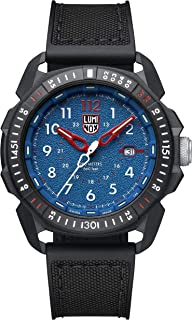 Luminox Mens Watch ICE-SAR Arctic Blue Dial 46mm (XL.1003/1000 Series): 200 Meter Water Resistant + Sapphire Crystal + Constant Night Visibility