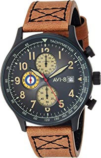 Men's Hawker Hurricane Analog Display Japanese Quartz Watch with Leather Band