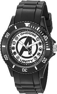 ساعة رجالي كلاسيكية انالوج كوارتز بحزام بلاستيكي، لون اسود، 20 سم - WMA00071