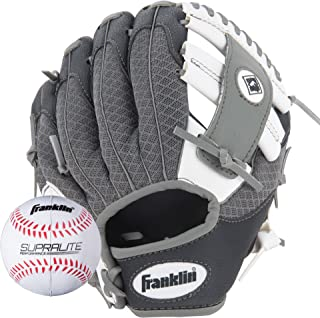Franklin Sports Teeball Glove and Ball Set - Meshtek Teeball Glove and Foam Baseball - 9.5""