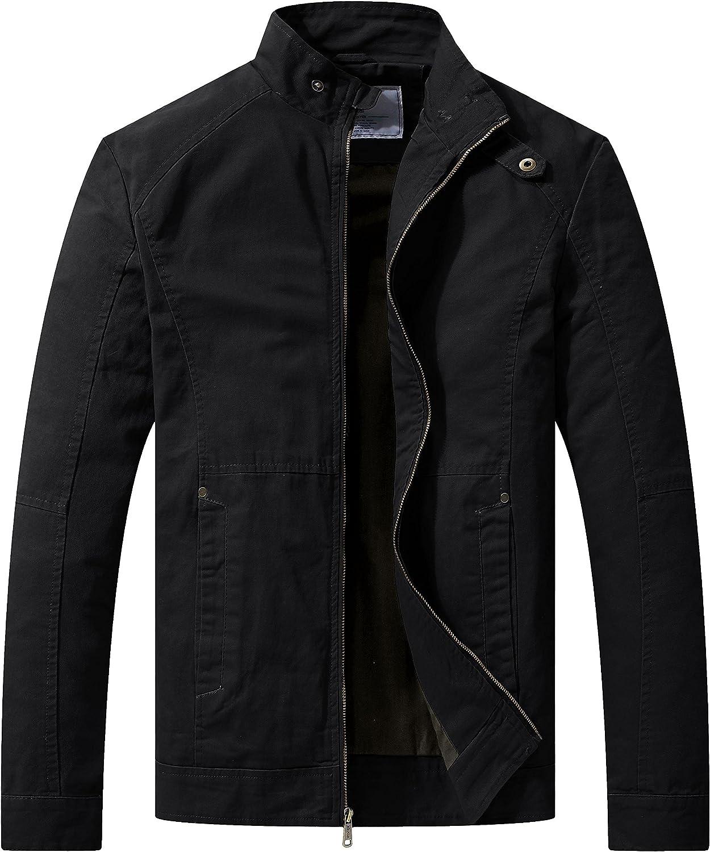 Wenven Herren Übergangsjacke Casual leichte Full Zip Military Jacke Jacke Jacke B078JLCFD8  Günstige Bestellung b4ee44