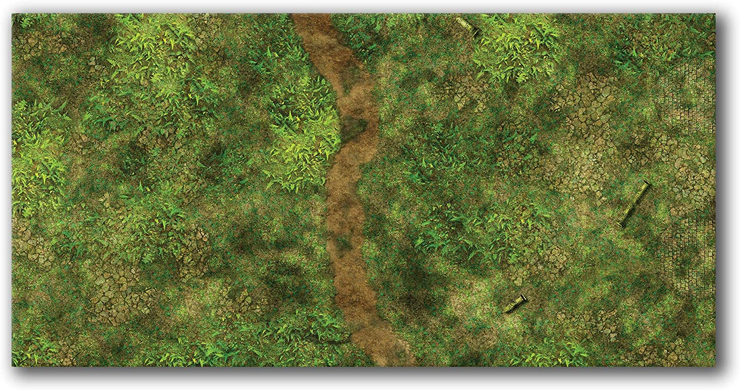 Frontline Gaming - FLG Mat 2021 autumn and winter new Neoprene Ma Wargaming Detroit Mall 6x3' Jungle