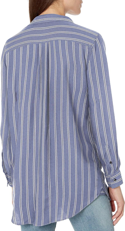 Goodthreads Womens Modal Twill Long-Sleeve Oversized Boyfriend Shirt Brand