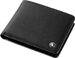 POWR Cartera de cuero, con bloqueo RFID, soporte para tarjetas de doble pliegue, con caja de regalo