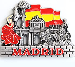 Madrid Metal Fridge Magnet Unique Design Home Kitchen Decorative Travel Holiday Souvenir Gift, Stick Up Your Lists, Photos on Your Refrigerator