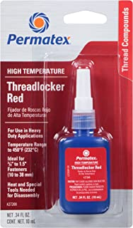 Permatex 27200 Hiigh Temperature Threadlocker Red, 10 ml