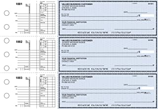 Business Checks, 3 to a Page Blue Safety Multipurpose Checks, 300 Single Checks