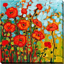 "Picture Perfect International Giclee Stretched Wall Art by Jennifer Lommers Red Poppies I Artists-Canvas, 18"" x 18"" x 1"""