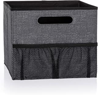 Thirty One Fold N' File in Charcoal Crosshatch - No Monogram - 3890