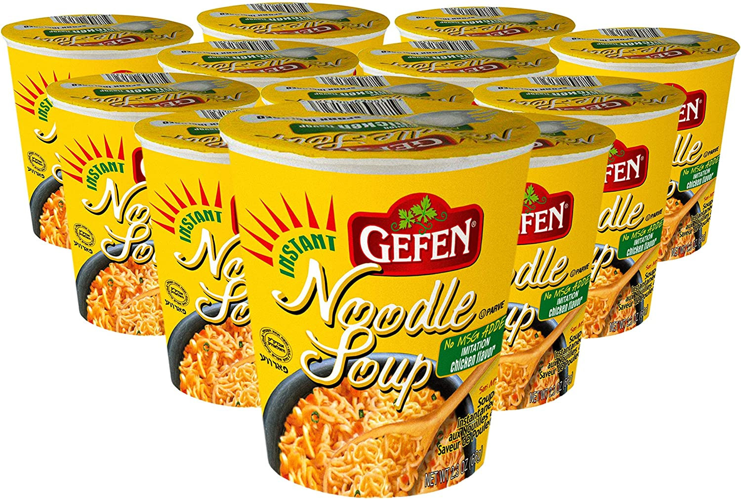 Gefen Instant Noodle Soup High quality new Cup 2.3oz MSG Chicken 12 No So specialty shop pack