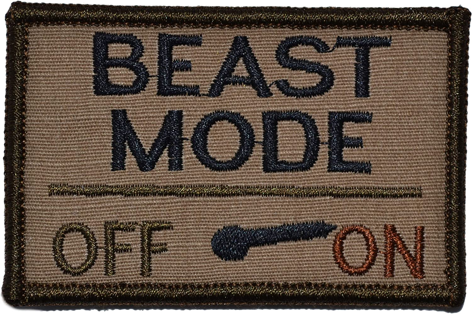 ASST COLORS AVAILABLE BEAST MODE Morale patch full hook backing