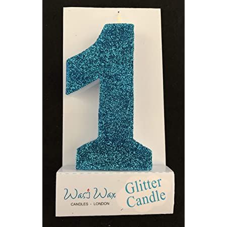 Sale JUMBO AQUA BLUE Glitter Candle 5 Number Birthday Cake Candles Turquoise Photo Prop Cake Smash 1st 2nd 3rd Kids Birthday Cake Topper