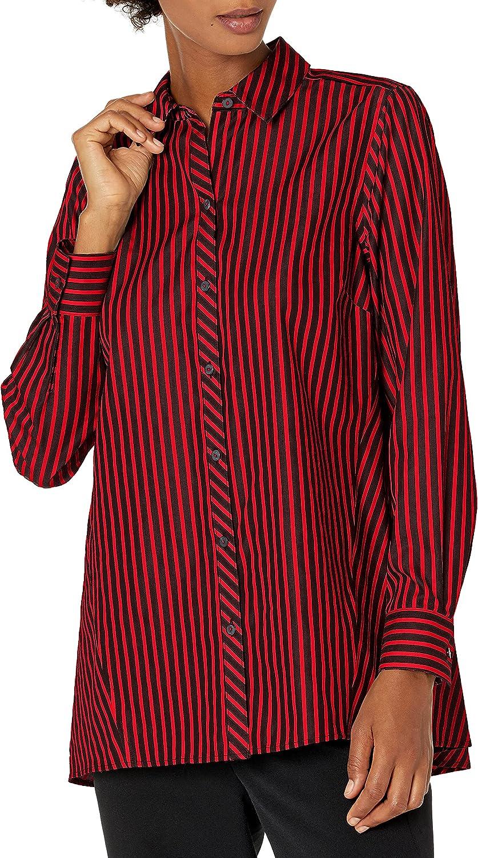 Foxcroft Women's Emilia Non Iron Stripe Tunic