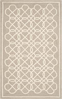 Safavieh Chelsea Collection HK739A Hand-Hooked Tan and Ivory Premium Wool Area Rug (2'6
