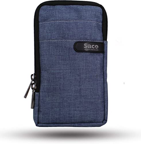 Saco Multipurpose Holster Premium Men/Woman Travel Bag Vertical Pouch with Belt Loop and Shoulder Straps Portable Car...