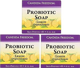 Three (3) Bars of Candida Freedom Probiotic Soap 4 oz - 3 bars