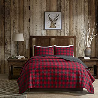 Woolrich Check Quilt Mini Set Cal King Red, King King