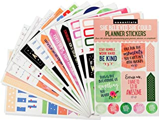 Essential Weekly Planner Stickers - She Believed She Could (Set of 160 Stickers)