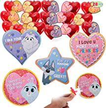 28 Valentines Day Prefilled Hearts with Jigsaw Puzzles for Kids Valentine Classroom Exchange Game Prizes Gift Exchange Cute Valentine Party Favors