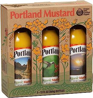 Sponsored Ad - Portland Organic Mustard Set in Festive Box by Portlandia Foods (13 fl oz - pack of 3) Naturally Gluten-fre...